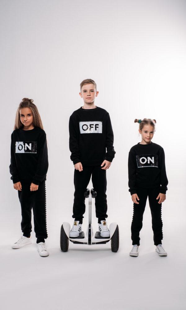 Свитшот Off\On черный