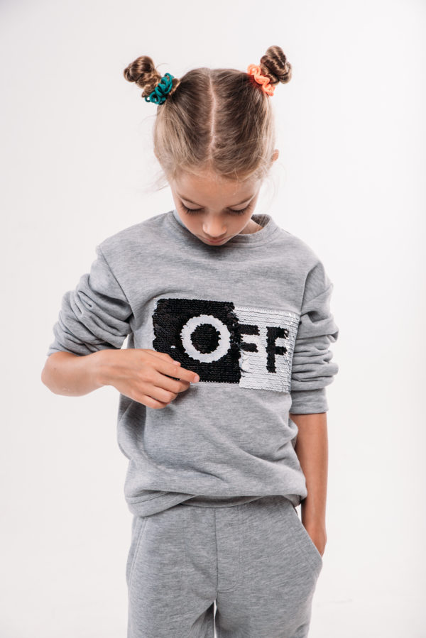 Свитшот OffOn серый