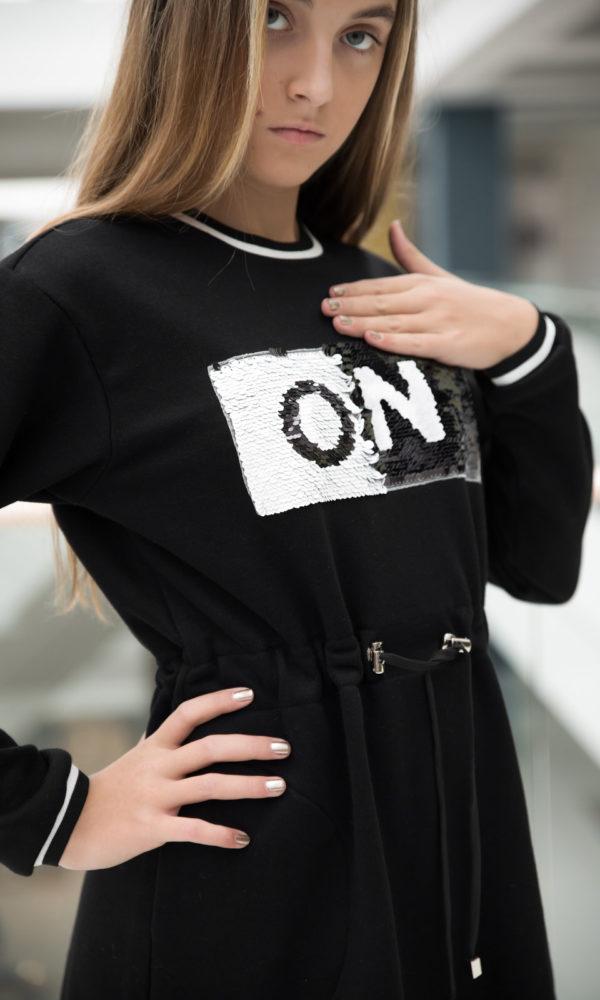 Платье спорт OFF/ON черное