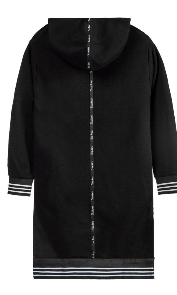 Платье худи бренд SA черное