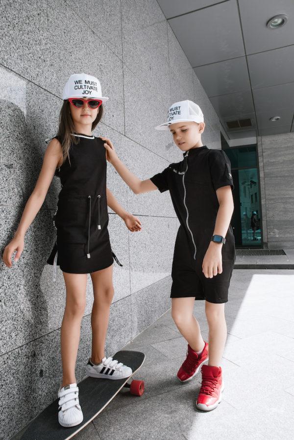 Платье летнее черное