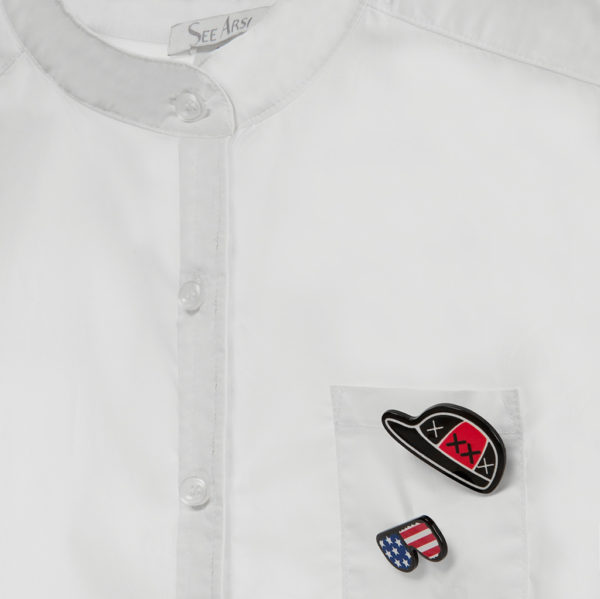 Рубашка Unisex Base Classic воротник стойка