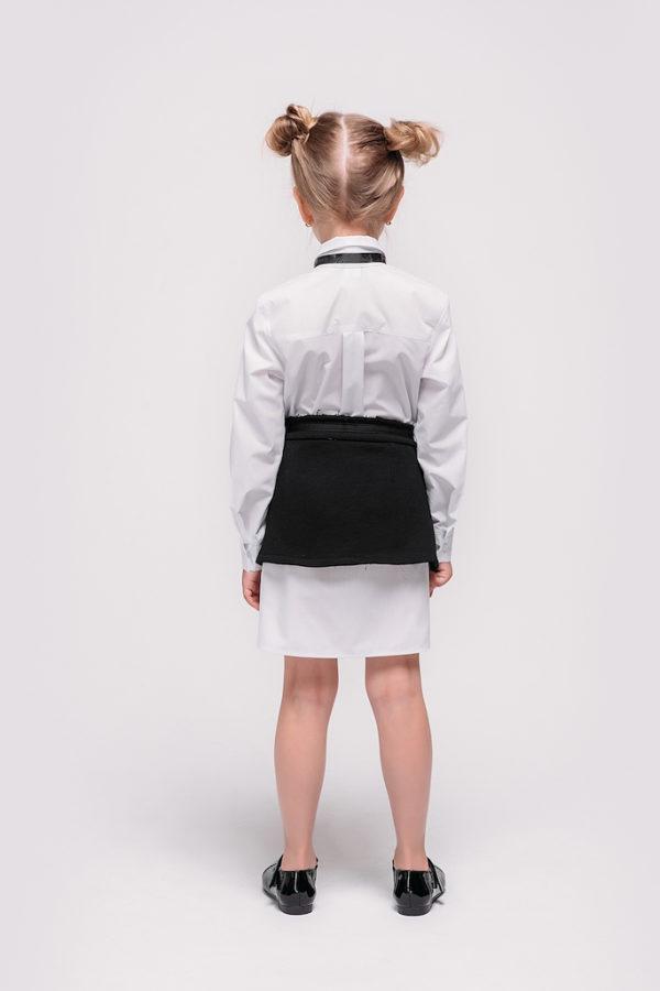 Рубашка удлиненная белая