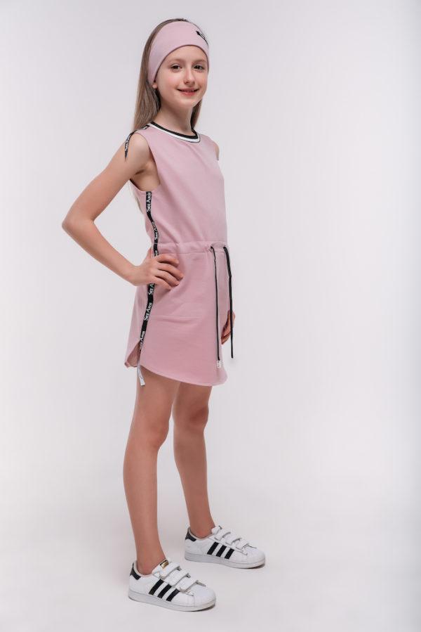 Платье летнее пудра