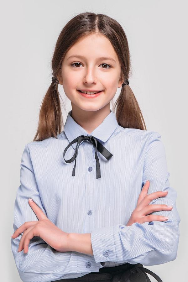 Рубашка удлиненная голубая