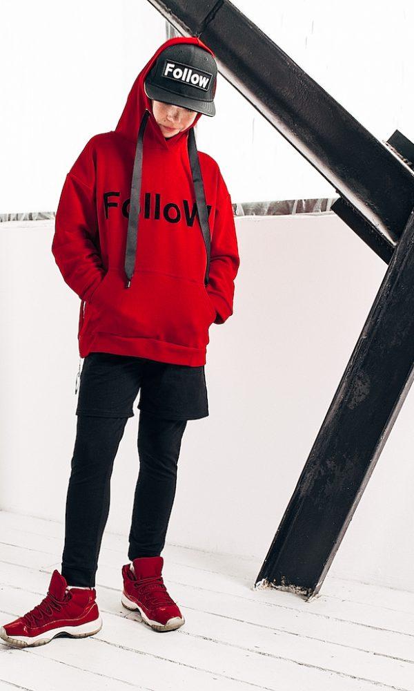 Худи FOLLOW красный