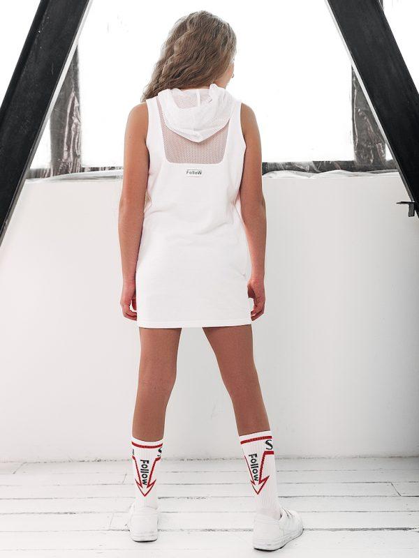 Платье FOLLOW белое