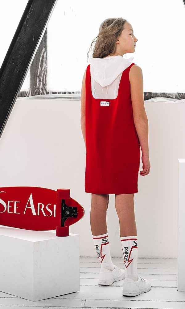 Платье FOLLOW красное