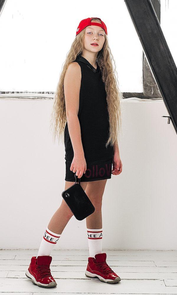 Платье FOLLOW черное