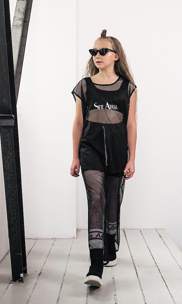Шорты брюки с сеткой FOLLOW черные