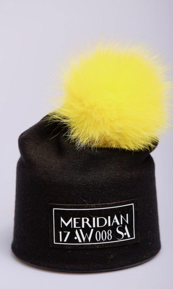Шапка See Arsi Meridian желтый помпон
