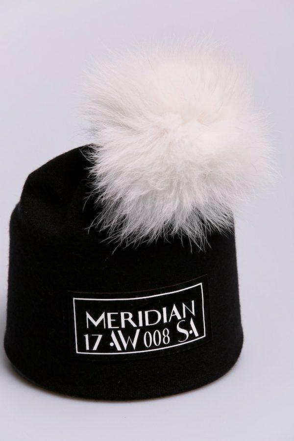 Шапка See Arsi Meridian белый помпон
